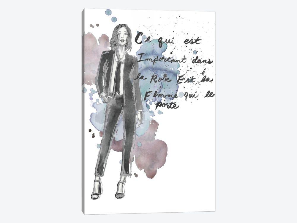Fashion Quotes III by Naomi McCavitt 1-piece Canvas Art