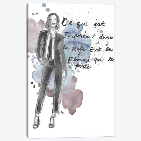 Fashion Quotes III Canvas Print #NMC28} by Naomi McCavitt Canvas Art