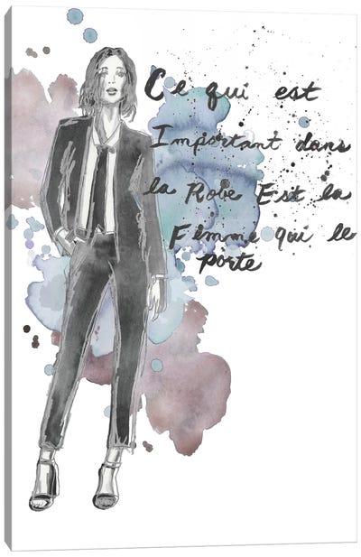 Fashion Quotes III Canvas Art Print