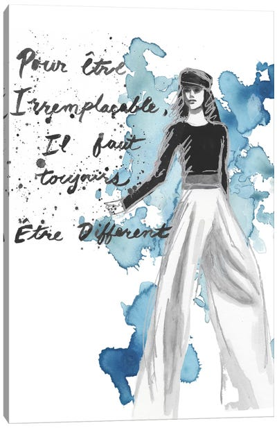 Fashion Quotes IV Canvas Art Print