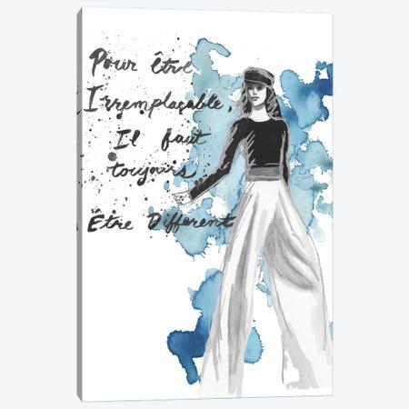 Fashion Quotes IV Canvas Print #NMC29} by Naomi McCavitt Canvas Wall Art