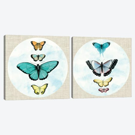 Silvered Aviary Diptych Canvas Print Set #NMC2HSET003} by Naomi McCavitt Canvas Art