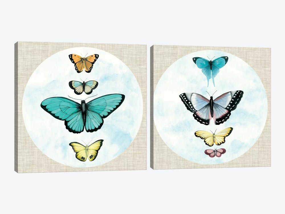 Silvered Aviary Diptych by Naomi McCavitt 2-piece Canvas Art