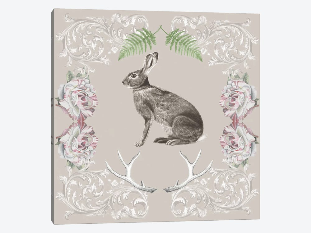 Hare & Antlers I by Naomi McCavitt 1-piece Canvas Art Print