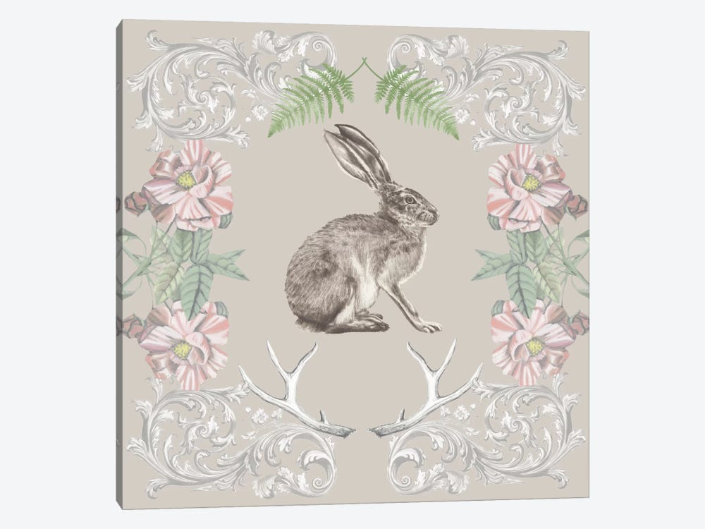 Hare & Antlers II by Naomi McCavitt 1-piece Canvas Artwork