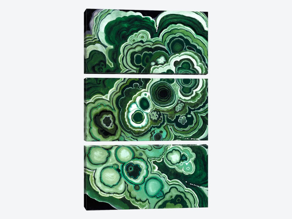 Malachite I 3-piece Canvas Art Print