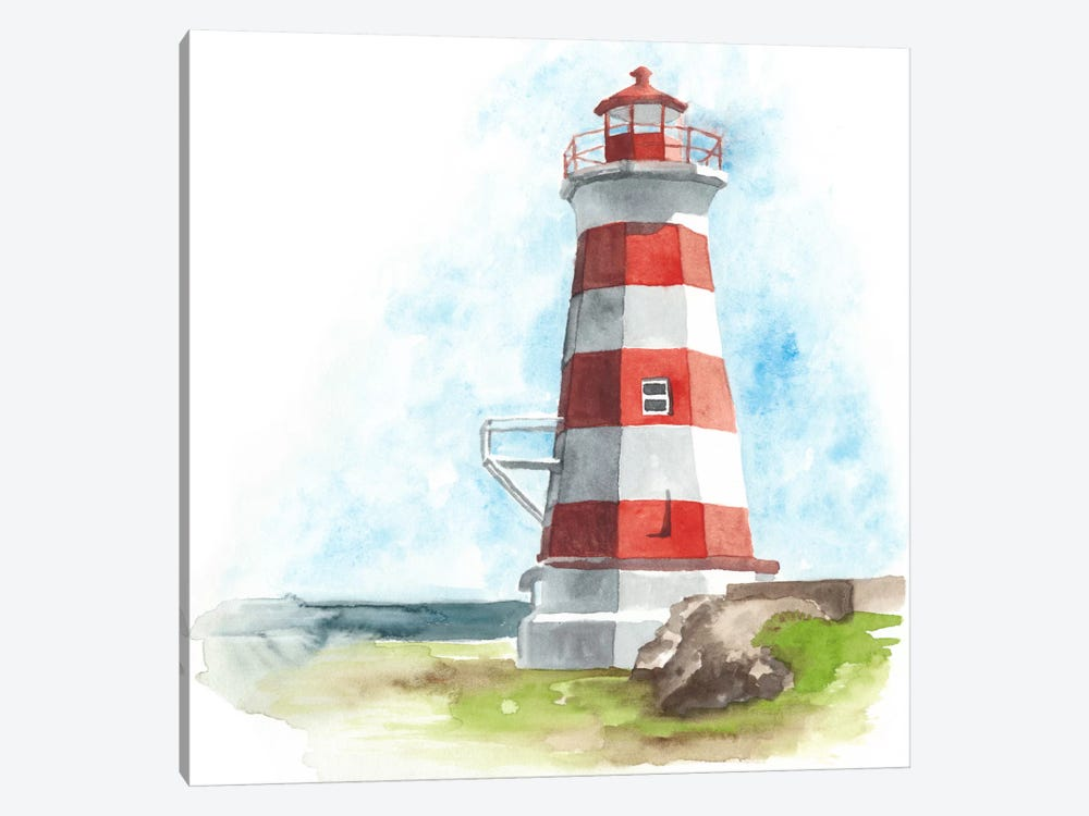 Watercolor Lighthouse I by Naomi McCavitt 1-piece Art Print