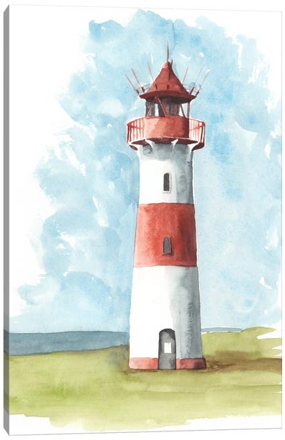 Watercolor Lighthouse II Canvas Print #NMC73