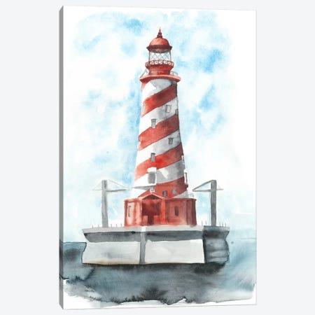 Watercolor Lighthouse IV Canvas Print #NMC75} by Naomi McCavitt Canvas Art