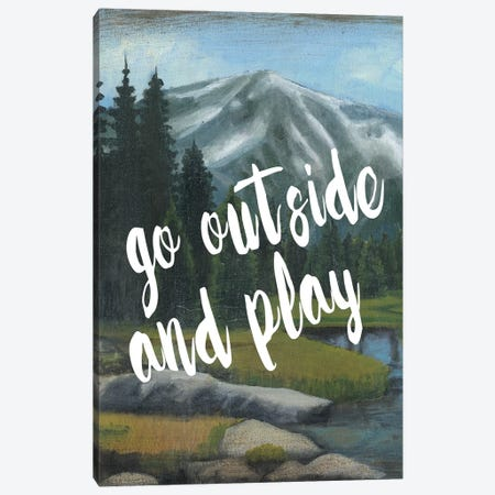 Adventure Typography I Canvas Print #NMC78} by Naomi McCavitt Art Print