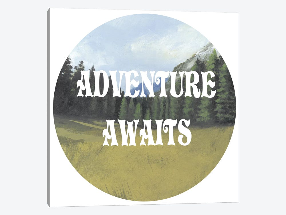 Adventure Typography III by Naomi McCavitt 1-piece Canvas Wall Art