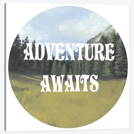 Adventure Typography III Canvas Print #NMC80} by Naomi McCavitt Canvas Art