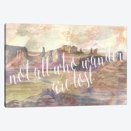 Adventure Typography IV Canvas Print #NMC81} by Naomi McCavitt Canvas Wall Art