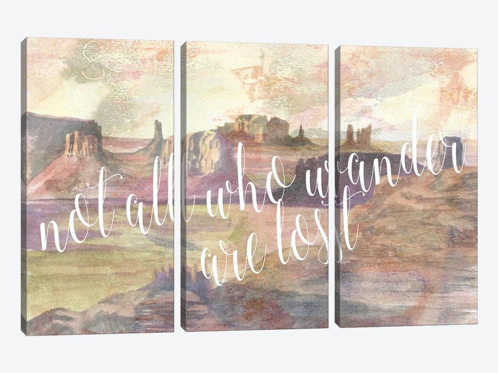 Adventure Typography IV by Naomi McCavitt 3-piece Canvas Art Print