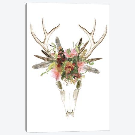 Deer Skull & Flowers I Canvas Print #NMC96} by Naomi McCavitt Canvas Artwork