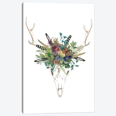 Deer Skull & Flowers II Canvas Print #NMC97} by Naomi McCavitt Canvas Artwork