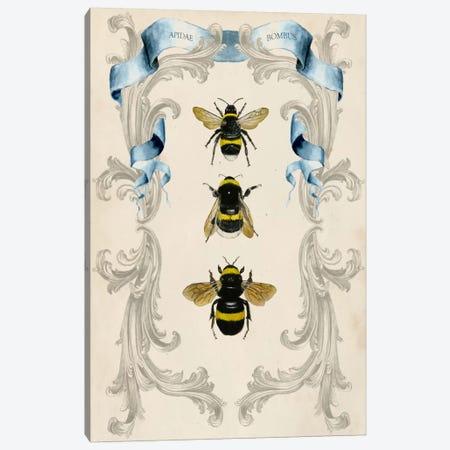 Bees & Filigree I Canvas Print #NMC9} by Naomi McCavitt Canvas Artwork