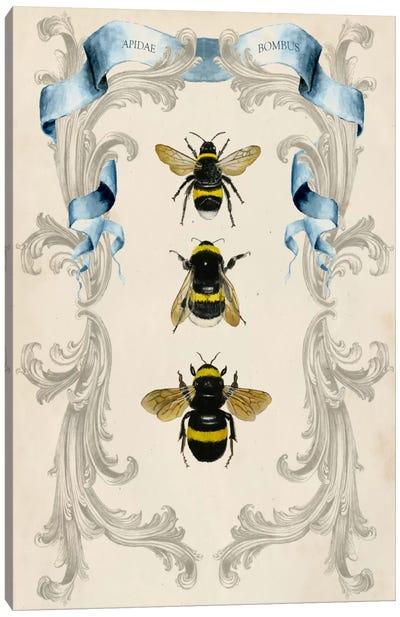 Bees & Filigree I Canvas Art Print