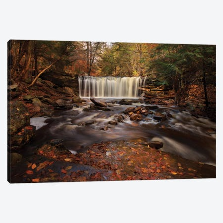 Rushing Water 3-Piece Canvas #NMI10} by Natalie Mikaels Canvas Art Print