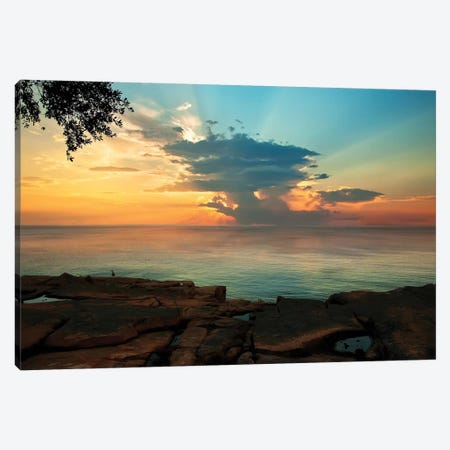 Tranquil Overlook 3-Piece Canvas #NMI12} by Natalie Mikaels Canvas Print