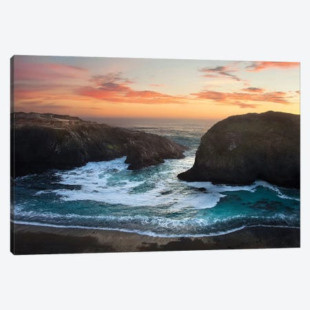 Coastal Glow Canvas Print #NMI3} by Natalie Mikaels Canvas Wall Art