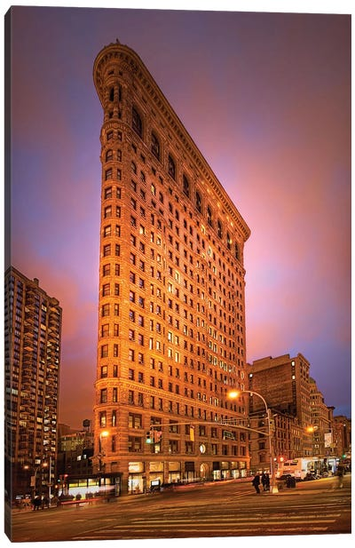 Dramatic Flatiron Canvas Art Print