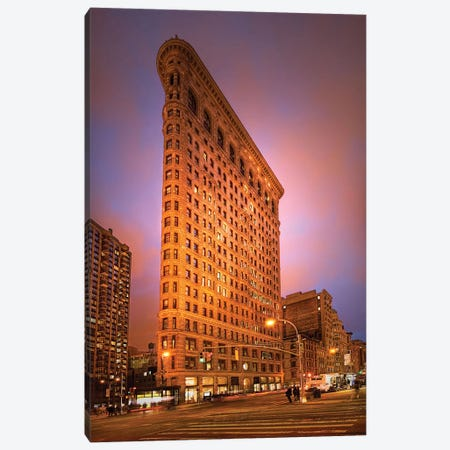 Dramatic Flatiron 3-Piece Canvas #NMI5} by Natalie Mikaels Art Print