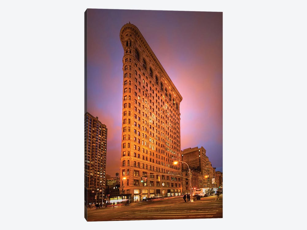 Dramatic Flatiron by Natalie Mikaels 1-piece Canvas Art Print