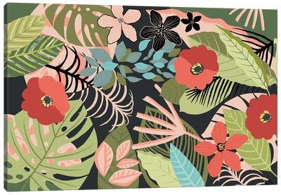 Tropical Silhouette Canvas Art Print