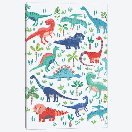 Dino Fun I Canvas Print #NMK13} by Nancy Mckenzie Canvas Art Print