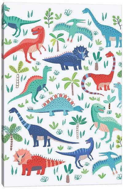 Dino Fun I Canvas Art Print