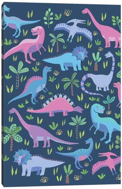 Dino Fun III Canvas Art Print