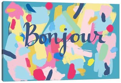 Bonjour Canvas Art Print