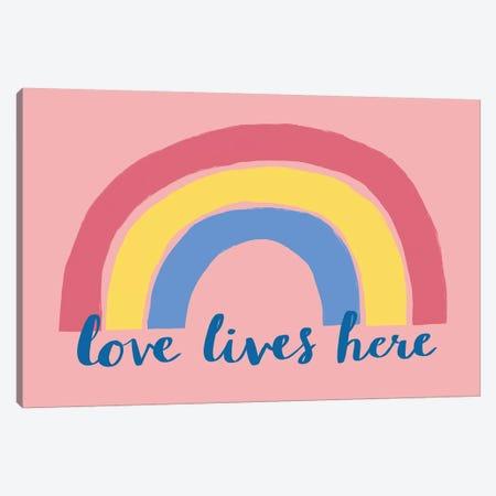 Love Lives Here Canvas Print #NMK17} by Nancy Mckenzie Canvas Art