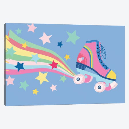 Rainbow Skate Canvas Print #NMK20} by Nancy Mckenzie Canvas Wall Art