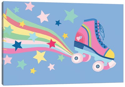 Rainbow Skate Canvas Art Print