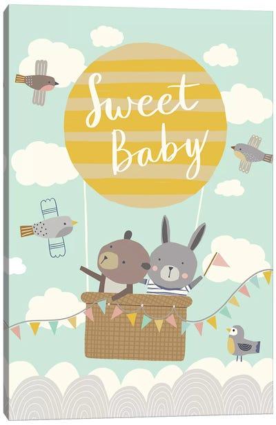 Baby Balloon Adventures III Canvas Art Print