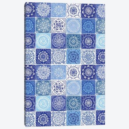 Home Blue Kitchen I Canvas Print #NMK33} by Nancy Mckenzie Canvas Print