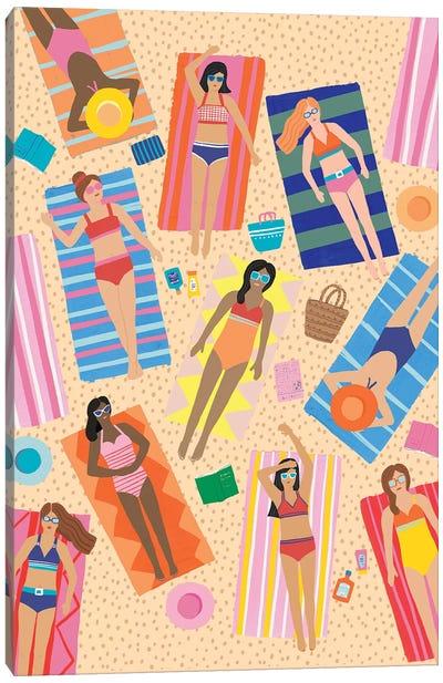 Summer Beach Fun II Canvas Art Print