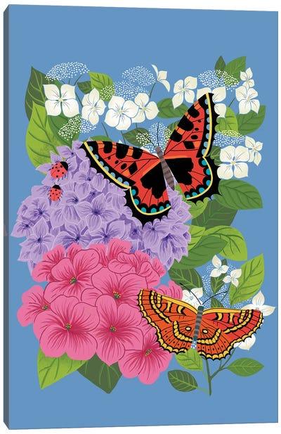 Hydrangeas & Butterflies Canvas Art Print