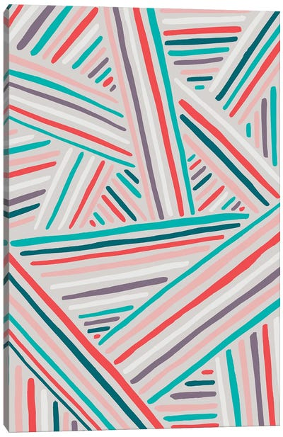 Summer Stripes Canvas Art Print