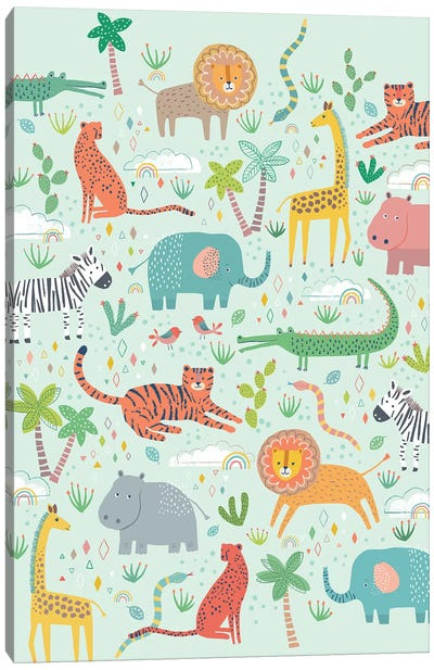 Jungle Chums II Canvas Art Print