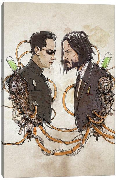 Rusty Duplos :: Neo Wick Canvas Art Print