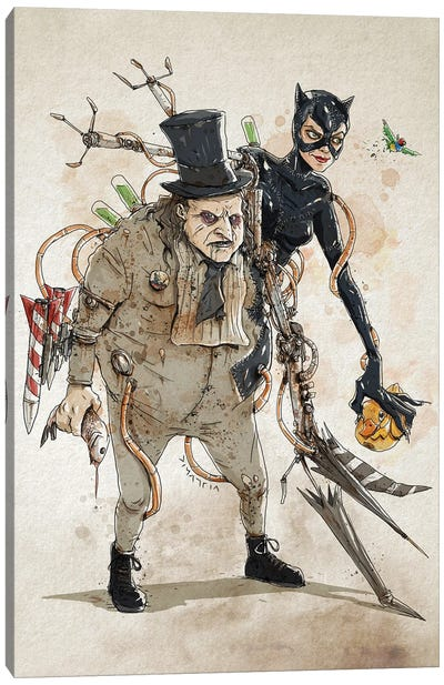 Rusty Duplos :: Penguin Catwoman Canvas Art Print