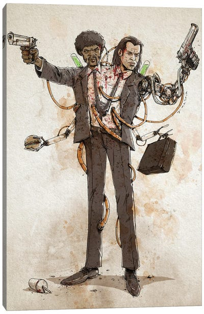 Rusty Duplos :: Vincent & Jules Canvas Art Print