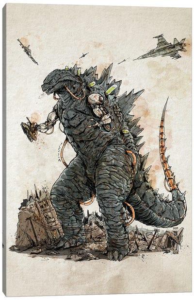Rusty Godzilla Canvas Art Print