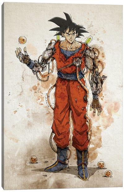 Rusty Goku Canvas Art Print