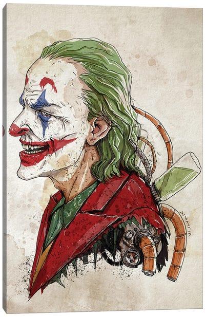 Rusty Joker Portrait Canvas Art Print
