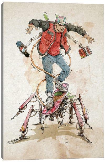 Rusty Marty McFly Canvas Art Print