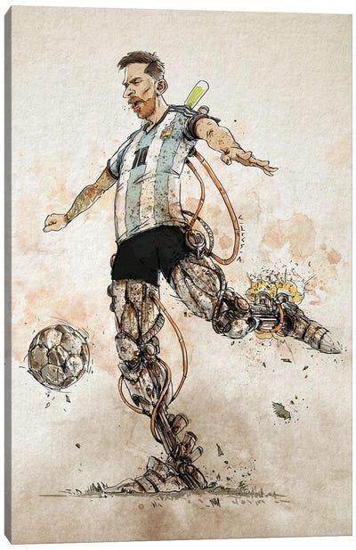 Rusty Messi Canvas Art Print